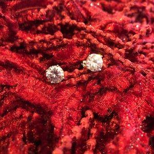 Jewelry - Pink stone earrings in sterling silver settings